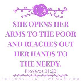 Proverbs 31 20