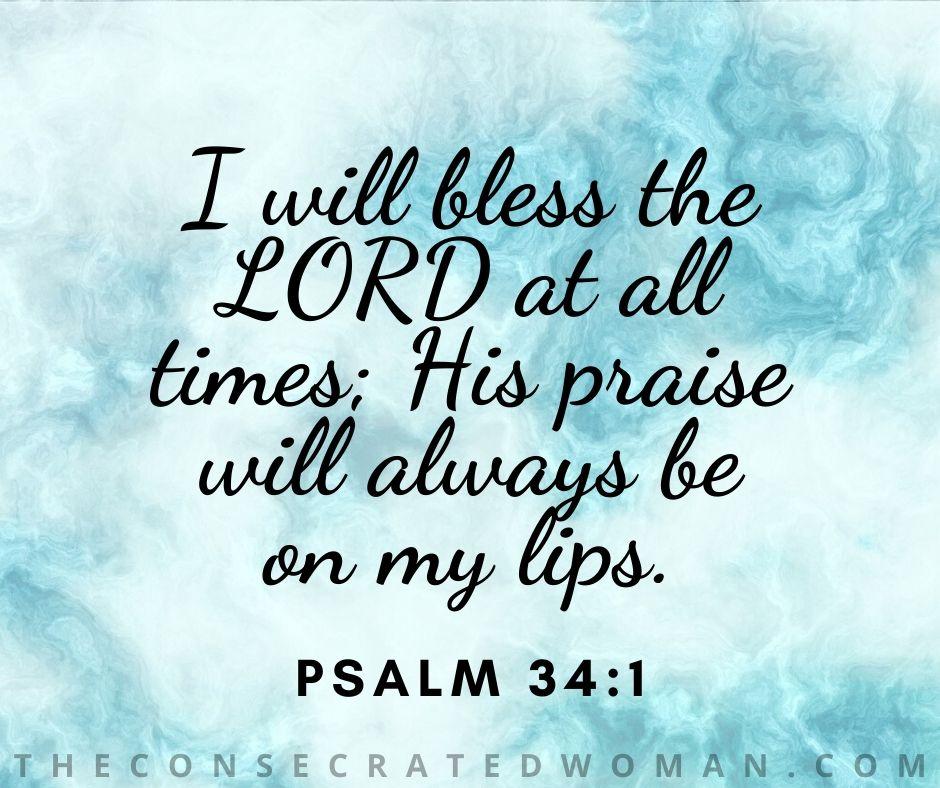 Psalm 34 1