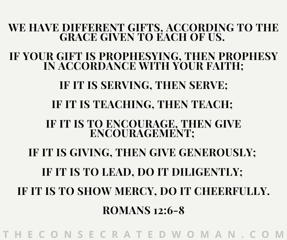 Romans 12 6-8