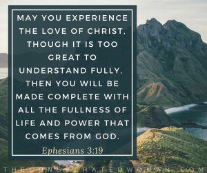 Ephesians 3 19