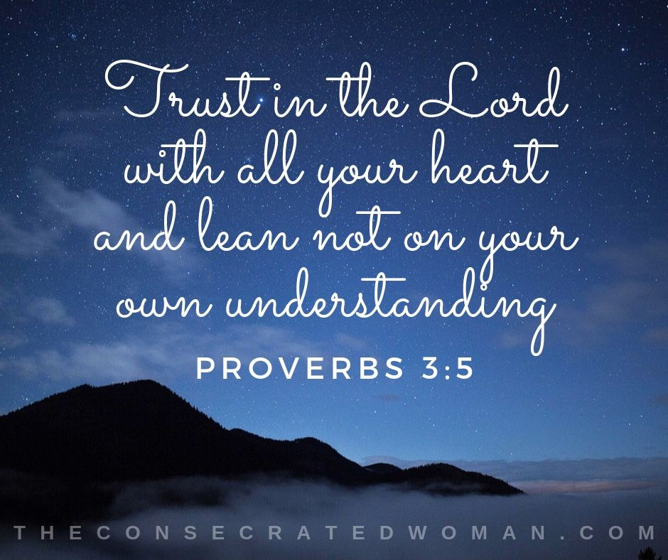 Proverbs 3 5 a