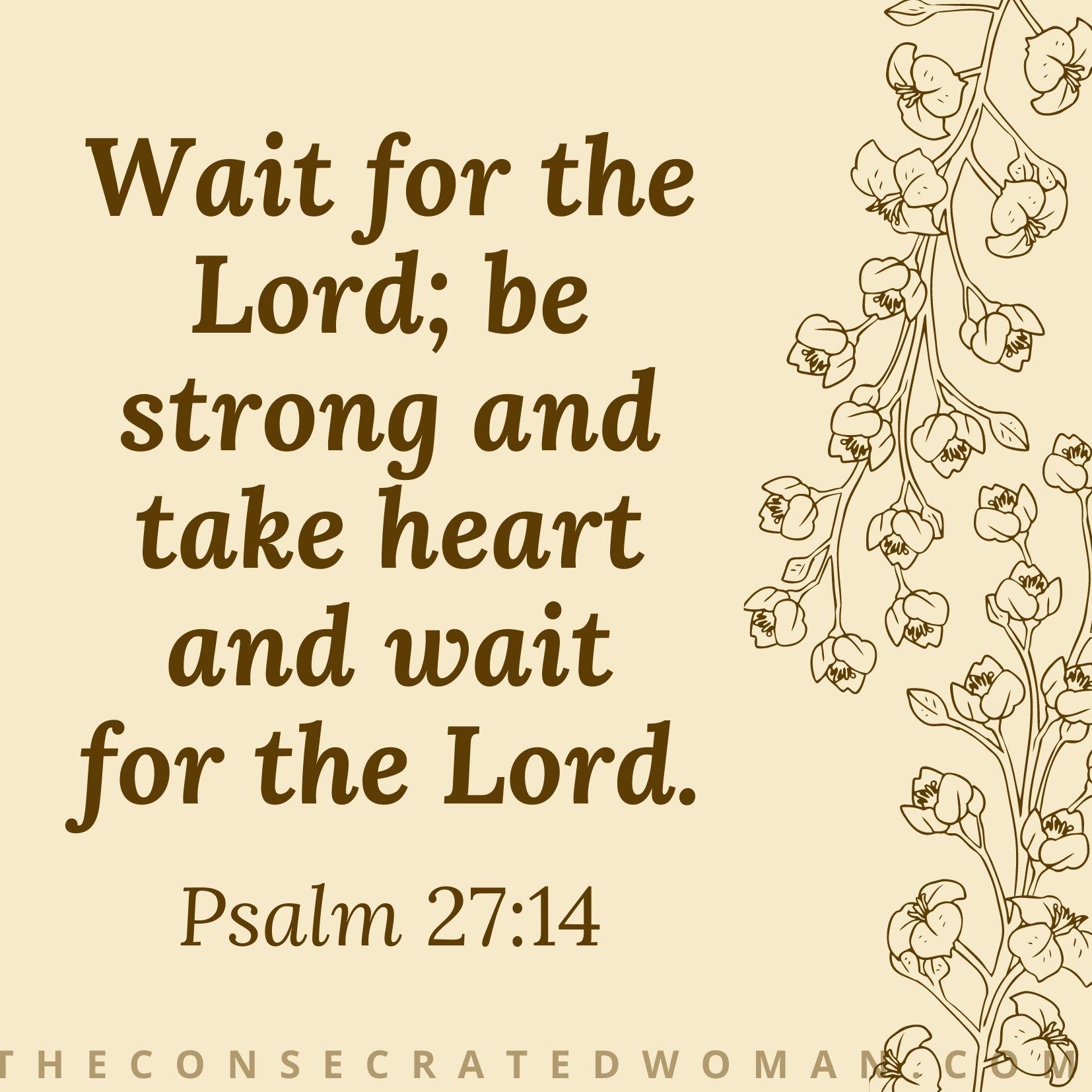 Psalm 27 14 2