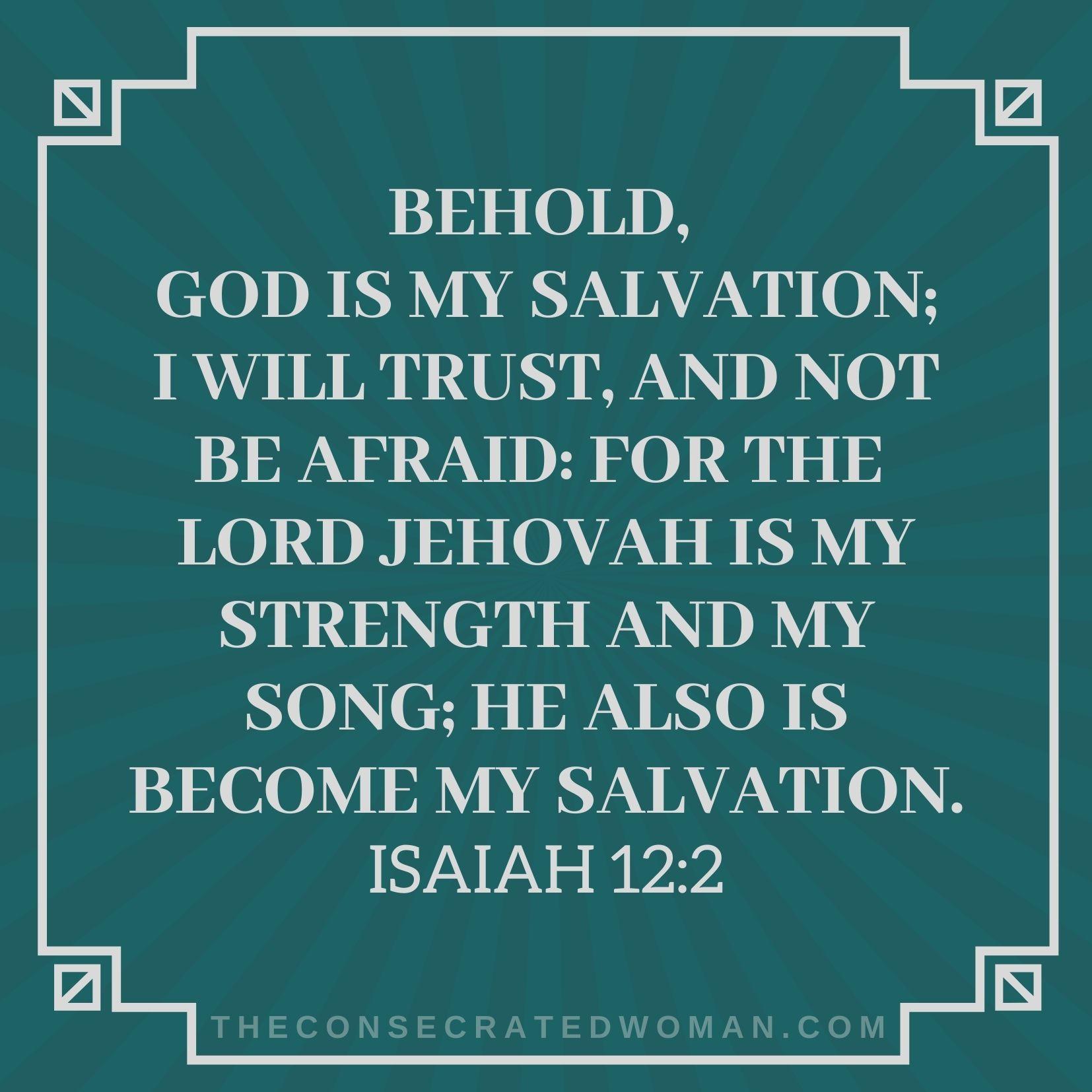 Isaiah 12 2 2