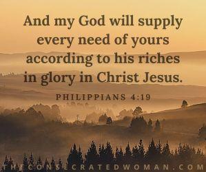 Philippians 4 19