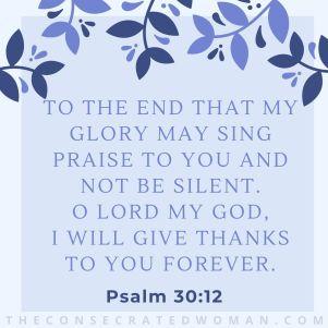 Psalm 30 12